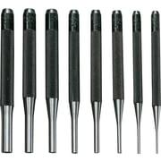 "General® Drive Pin Punch Sets, W/Vinyl Case, 4"" Long"