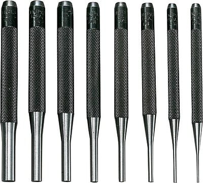 General® Tools 8 Pieces Drive Pin Punch Set, Tool Steel, 1/16 - 5/16