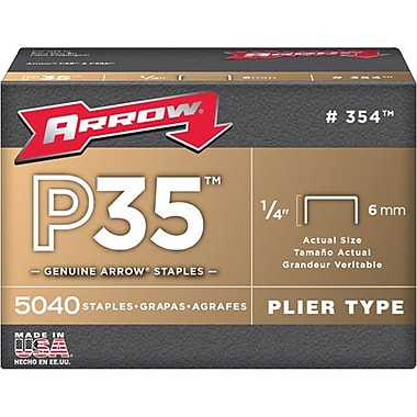 Arrow® Fastener P35 Heavy Duty Staple, 3/8