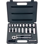 Stanley ® Tools For The Mechanic 20 Pieces Standard And Deep Socket Set, 3/8""