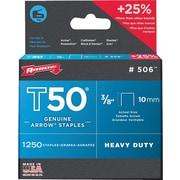 "Arrow Fastener T50® Staple, 3/8 in, 0.05"" Wire"