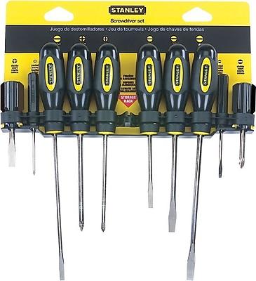 Stanley® 10 Pieces Standard Fluted Screwdriver Set