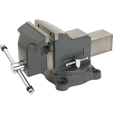 "Wilton® Heavy duty Shop Vise, 5/8 - 2 ½"", 6"" Max Opening, 360° Swivel"