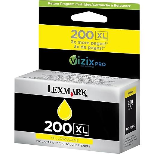 lexmark 200xl yellow ink cartridge 14l0177 high yield staples. Black Bedroom Furniture Sets. Home Design Ideas