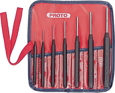 Proto® 7 Pieces Drive Pin Punch Set, 1/16 - 1/4
