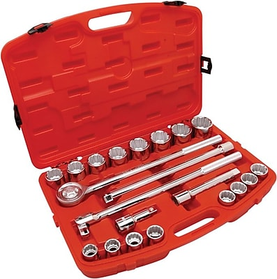 Cooper Hand Tools Crescent® 21 Pieces Standard Mechanics Tool Set, 3/4