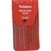 Cooper Hand Tools Nicholson® 6 Pieces Mini Hobby File Set, 5-1/2""