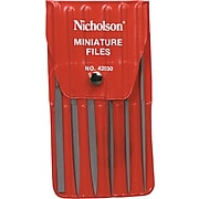 Nicholson® Hobby File Sets, Assorted Minifiles, W/Vinyl 5-1/2""