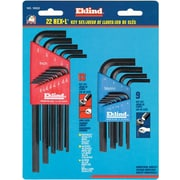 Eklind® Tool Hex-L® 22 Pieces Long And Short Arm Combination Hex Key Set, 0.050 - 3/8""