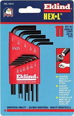 Eklind® Tool Hex-L® 13 Pieces Short Arm Hex Key Set, 0.050 - 3/8