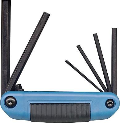 Eklind® Tool Ergo-Fold™ 9 Pieces Large Handle Hex Key Set, Red Composite Grip, 5/32 - 3/8