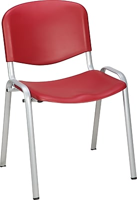 Staples Norwell Plastic Stacking Cafeteria Chair, Red, 4/PK (22308)