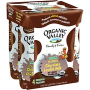 Organic Valley® 1% Chocolate Low Fat Milk, 8 oz. Cartons, 4/Pack