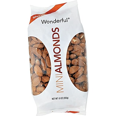 Wonderful Dry Roasted & Salted Almonds, 10 oz. Packs, 16 Packs/Box
