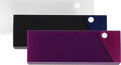 Staples Slider Pencil Cases, Assorted (26092-CC)