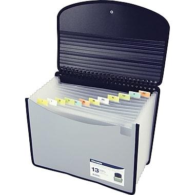 Winnable 13-Pocket Coil Bound Poly Expanding Desktop File, Letter