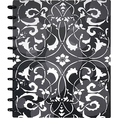 Staples® Arc Customizable Flower Circle Design Notebook System, Black & White, 9-3/8