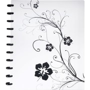 "Staples® Arc Customizable Hibiscus Design Notebook System, Black & White, 9-3/8"" x 11-1/4"""
