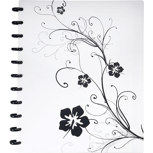 Staples Arc Customizable Hibiscus Design Notebook System Black