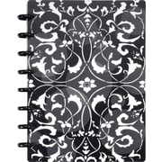 "Staples® Arc Customizable Flower Circle Design Notebook System, Black/White, 6-3/8' x 8-3/4"", Each (20011)"