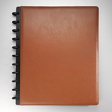 M by Staples Arc Customizable Leather Notebook, 120 Pages, 11