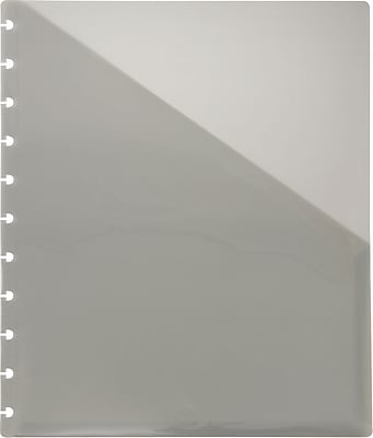 Staples Arc Poly File Pocket, Letter Size, Smoke, 2/Pack (20019)