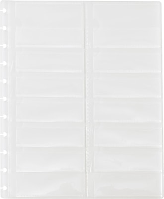 Staples® Arc System Business Card Holders, Clear, 8-1/2