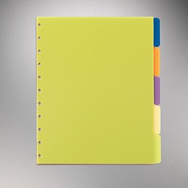 M by Staples™ - Séparateurs à index Arc, 11 po x 8 1/2 po, couleurs variées