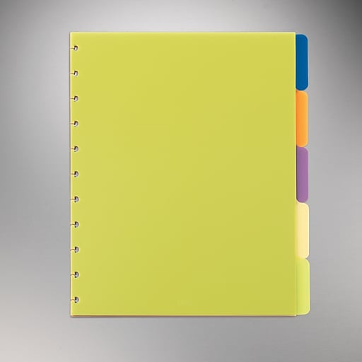 staples arc system tab dividers assorted colors 9 x 11 staples