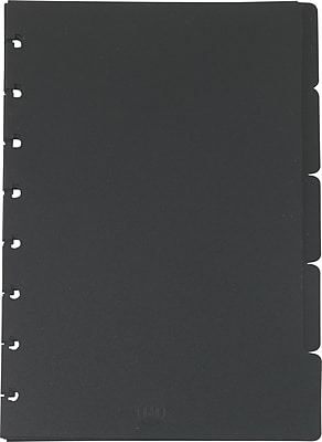 Staples® Arc System Tab Dividers, Black, 5-5/6
