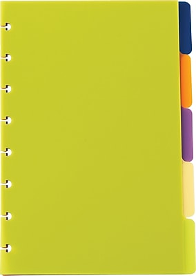 Staples® Arc System Tab Dividers, Assorted Colors, 5-5/6