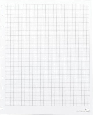 Staples® Arc System Graph-Ruled Premium Refill Paper, White, 8-1/2