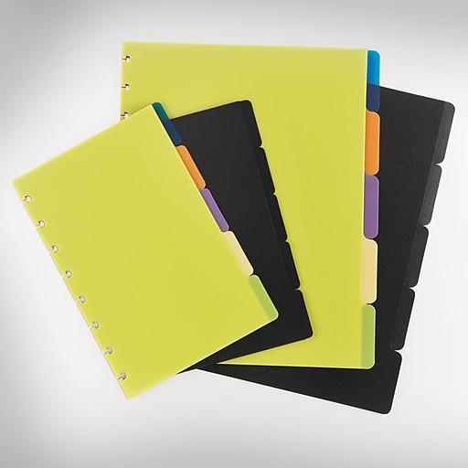 "Staples® Arc System Tab Dividers, Black, 5-5/6"" X 8-1/2"