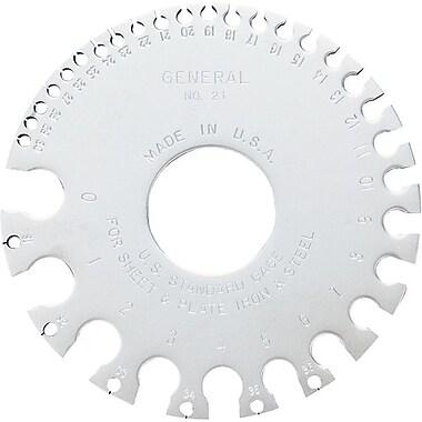 General® Tools Sheet Metal Gage, 3 1/4-inch