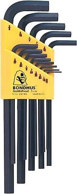 Bondhus® 13 Pieces Long Length Hex Key Set, 0.05 - 3/8