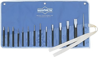 Mayhew™ Tools 14 Pieces Punch and Chisel Kit