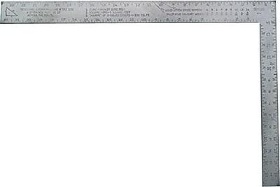 Stanley® Homeowner Carpenter's Framing Square, 24 in (L) x 2 in (W) x 0.2 in (T) Blade
