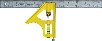 Stanley® Combination Square, 12 in (L) x 3 in (W) Blade
