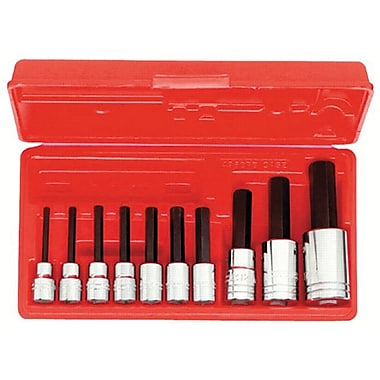 Proto® 10 Pieces Ball Locking Socket Hex Bit Set, 3/8 and 1/2 in Square Drive