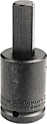 Proto® Pin Locking Impact Socket Hex Bit, 3/4 in Square Drive, 7/8 in Socket x 2 9/16 in Bit