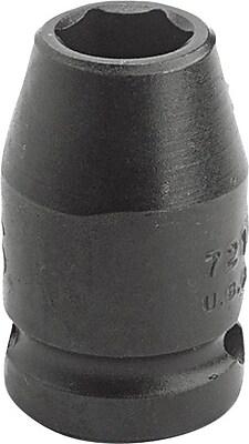 Proto® Torqueplus™ Standard Length Pin Locking Impact Socket, 3/8 in Square Drive, 7/16 in
