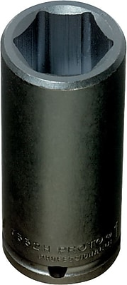 Proto® Torqueplus™ Deep Length Pin Locking Box Tip Impact Socket, 1/2 in Square Drive, 1 1/8 in