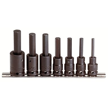 Proto® 7 Pieces Pin Locking Hex Bit Impact Socket Set, 1/2 in Square Drive