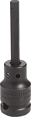 Proto® Pin Locking Impact Socket Hex Bit, 1/2 in Square Drive, 1/2 in Socket X 1 7/8 in Bit