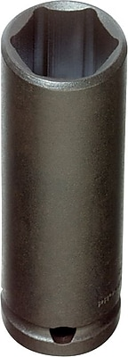 Proto® Torqueplus™ Deep Length Pin Locking Impact Socket, 3/8 in Square Drive, 9/16 in