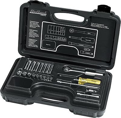 Blackhawk® 21 Pieces 6 Point Standard Socket Set, 1/4 in Drive