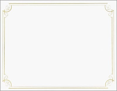 Great Papers® Golden Scroll Frame Foil Certificate
