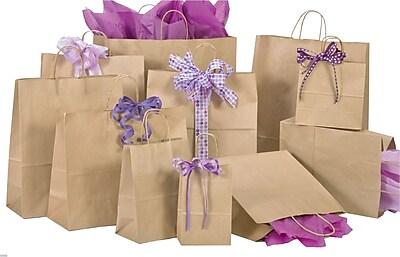 Shamrock Natural Kraft Shopping Bags, Size 8