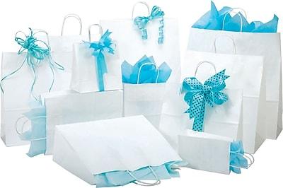 Shamrock White Kraft Paper Shopper, Jaguar