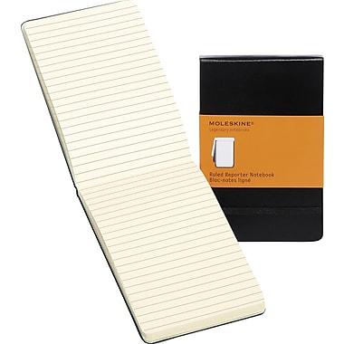 Moleskine Reporter Notebook, Pocket, Ruled, Black, Hard Cover, 3-1/2